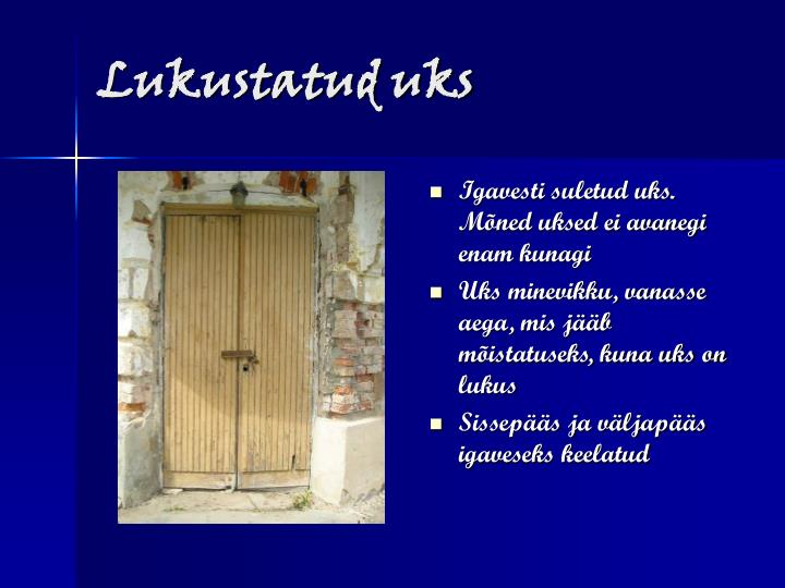Lukustatud uks