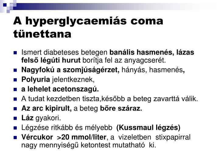 A hyperglycaemis coma tnettana