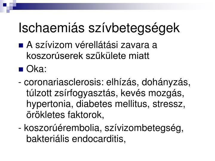 Ischaemiás szívbetegségek