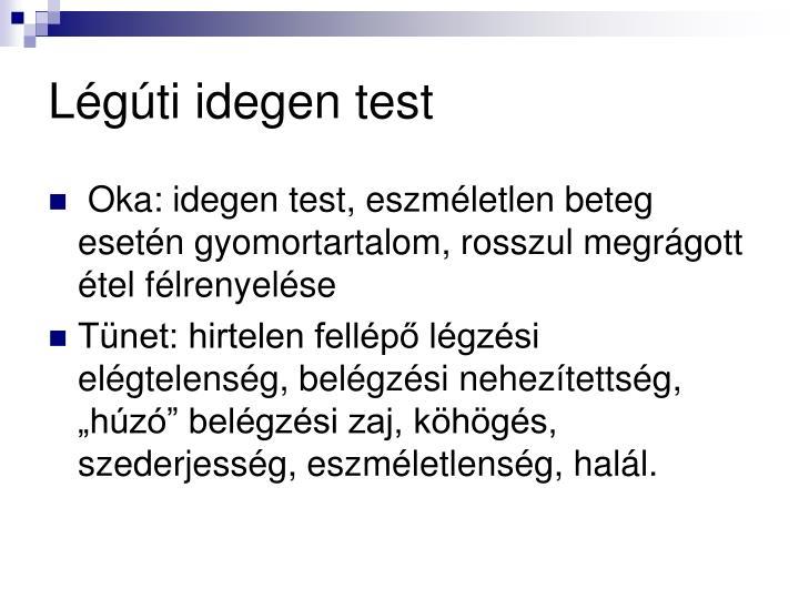 Lgti idegen test