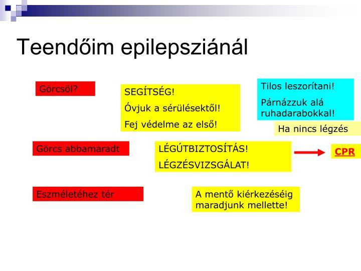 Teendőim epilepsziánál