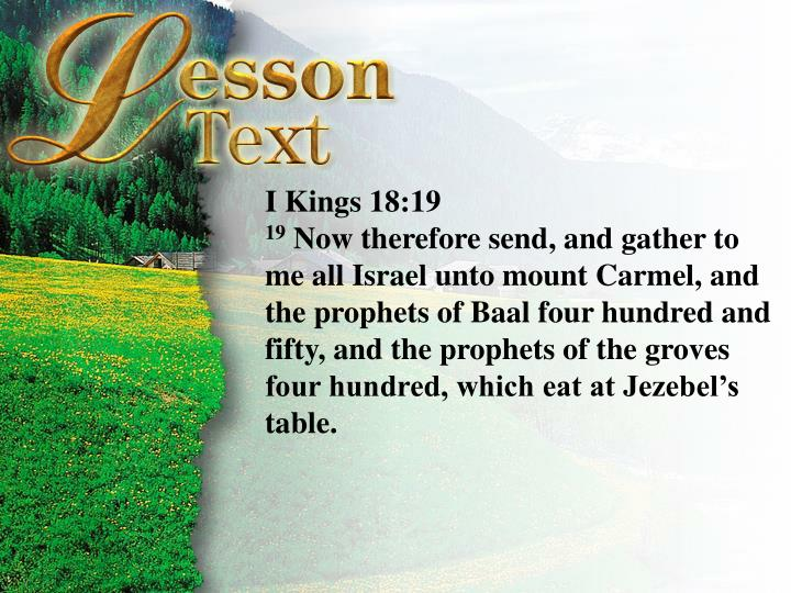 I Kings 18:19