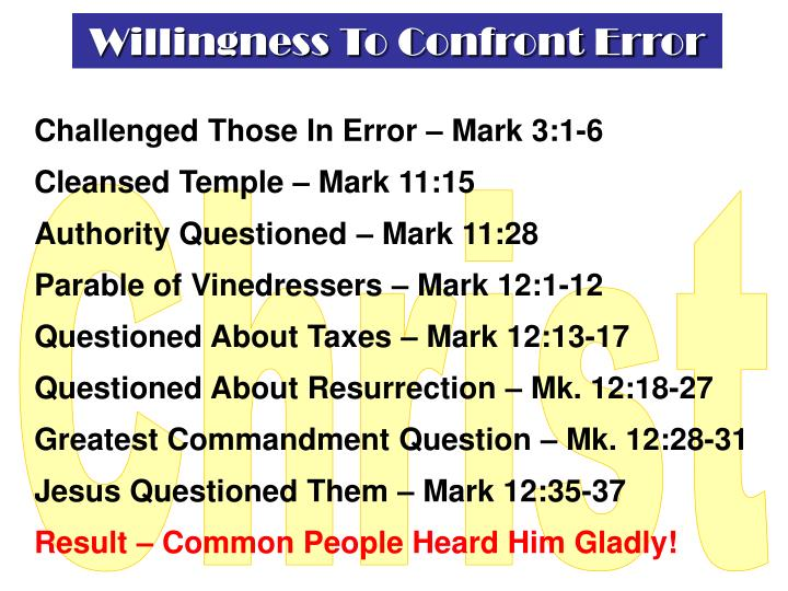 Willingness To Confront Error