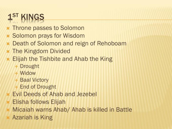 Throne passes to Solomon