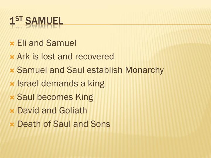 Eli and Samuel