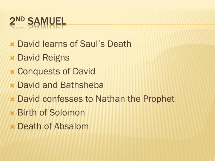 David learns of Saul's Death