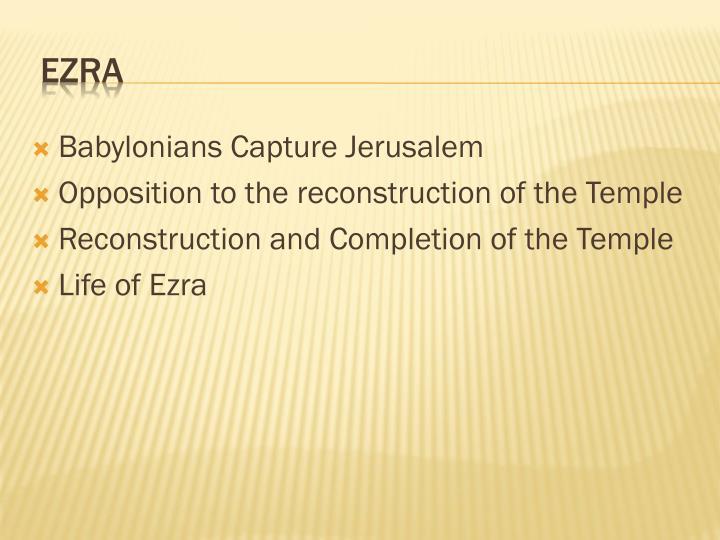 Babylonians Capture Jerusalem