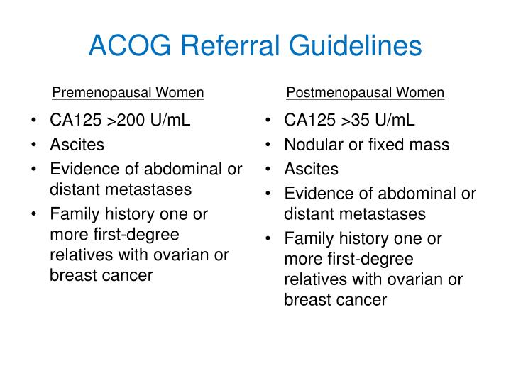 ACOG Referral Guidelines