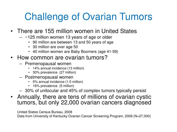 Challenge of Ovarian Tumors
