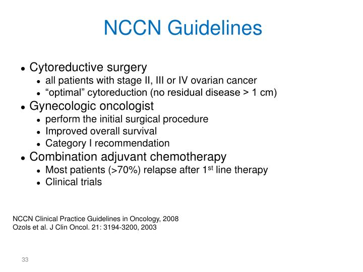 NCCN Guidelines