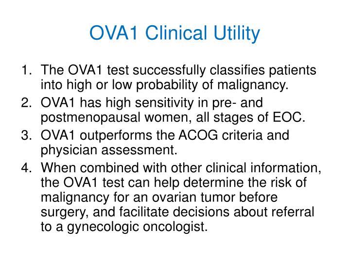 OVA1 Clinical Utility