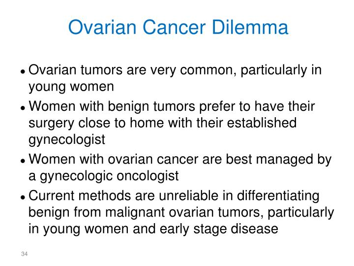 Ovarian Cancer Dilemma