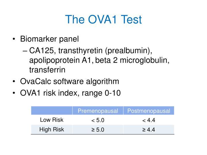 The OVA1 Test