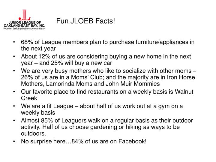 Fun JLOEB Facts!