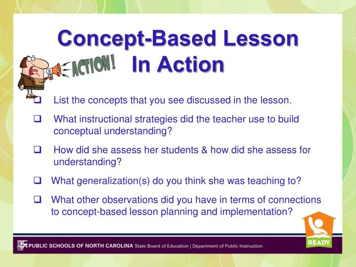 Concept-Based Lesson