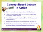 concept based lesson in action