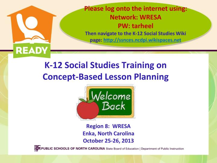 K 12 social studies training on concept based lesson planning