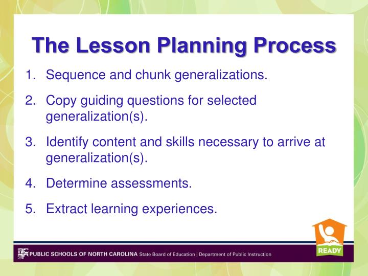 The Lesson Planning Process