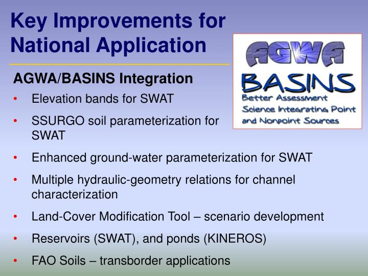 Key Improvements for