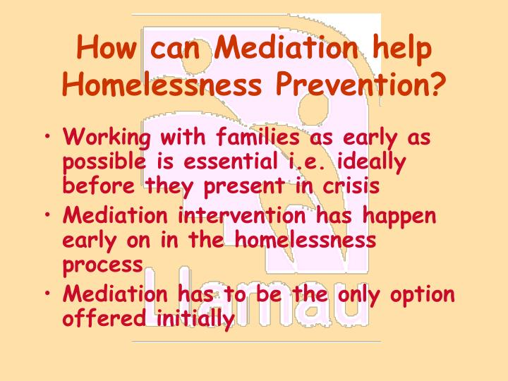 How can mediation help homelessness prevention