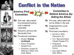 conflict in the nation
