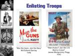 enlisting troops