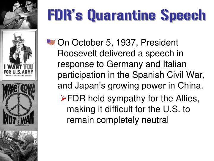 FDR's Quarantine Speech