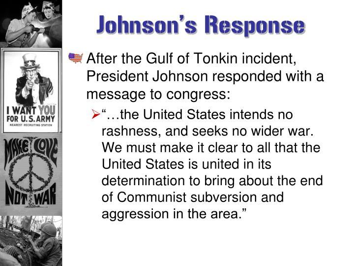 Johnson's Response