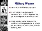 military women