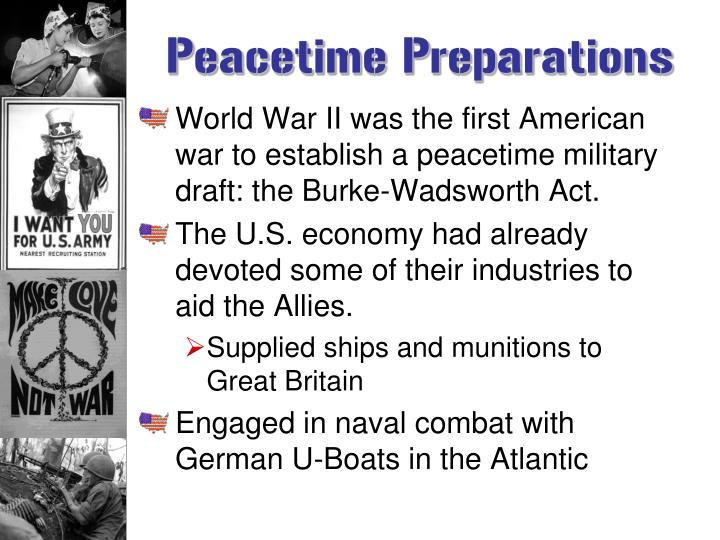 Peacetime Preparations