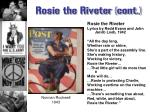 rosie the riveter cont