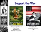 support the war
