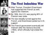 the first indochina war