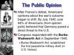 the public opinion