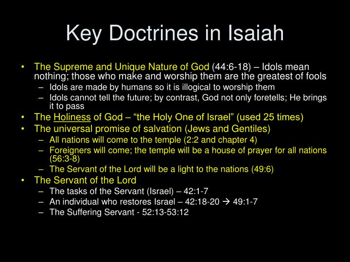 Key Doctrines in Isaiah