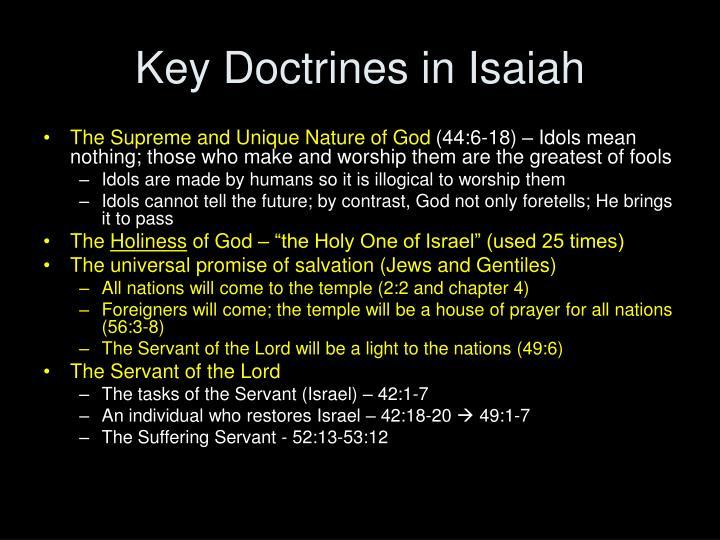 Key Doctrines in Isaiah