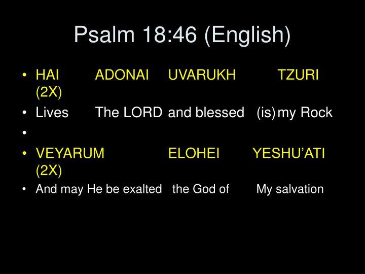 Psalm 18:46 (English)