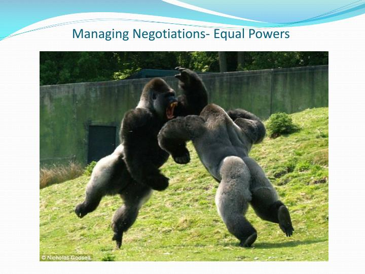 Managing Negotiations- Equal Powers