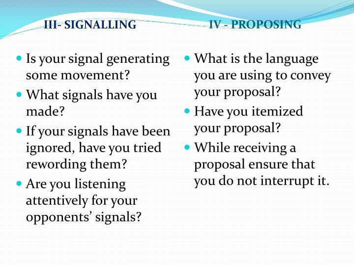 III- SIGNALLING
