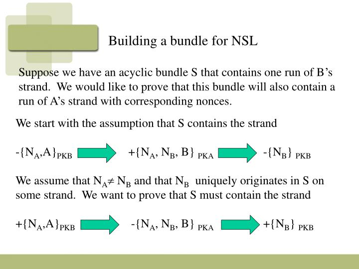 Building a bundle for NSL