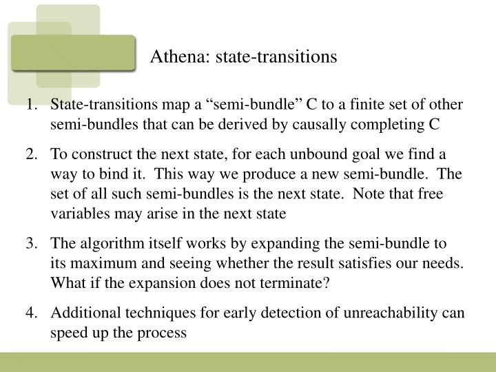 Athena: state-transitions