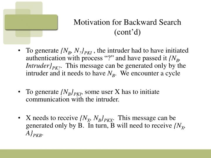 Motivation for Backward Search (cont'd)