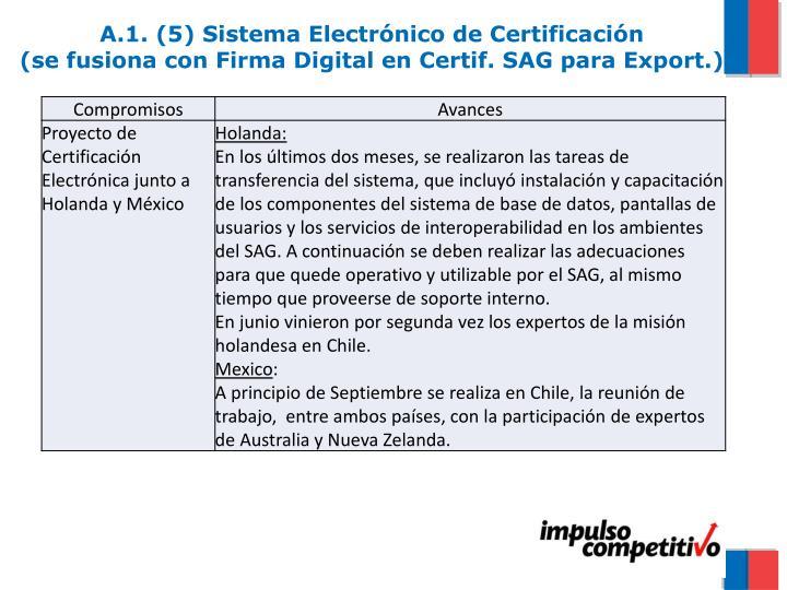 A.1. (5) Sistema Electrónico de Certificación
