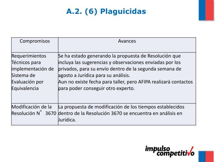 A.2. (6) Plaguicidas