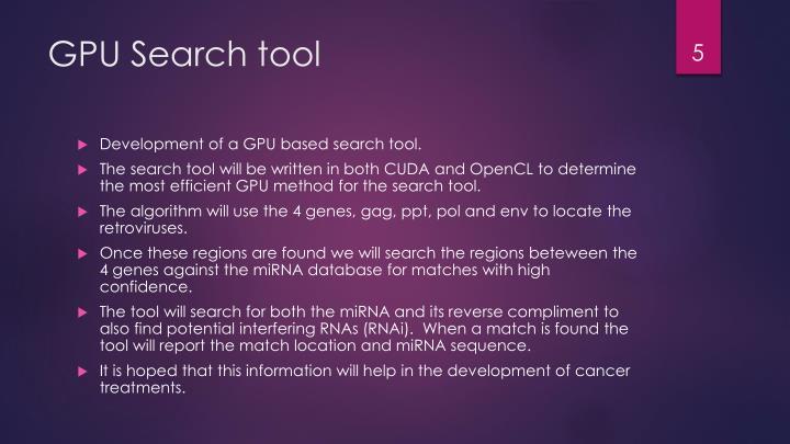 GPU Search tool
