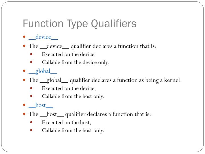 Function Type Qualifiers