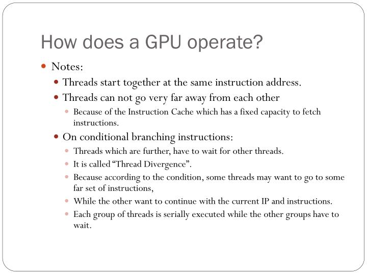 How does a GPU operate?