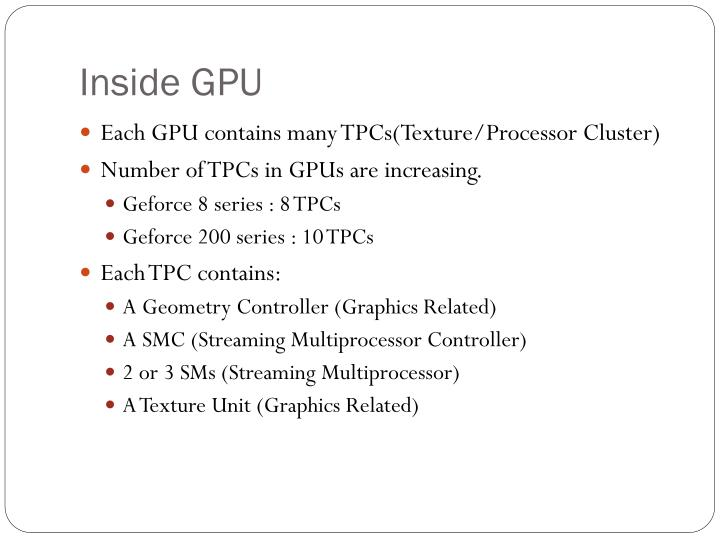 Inside GPU