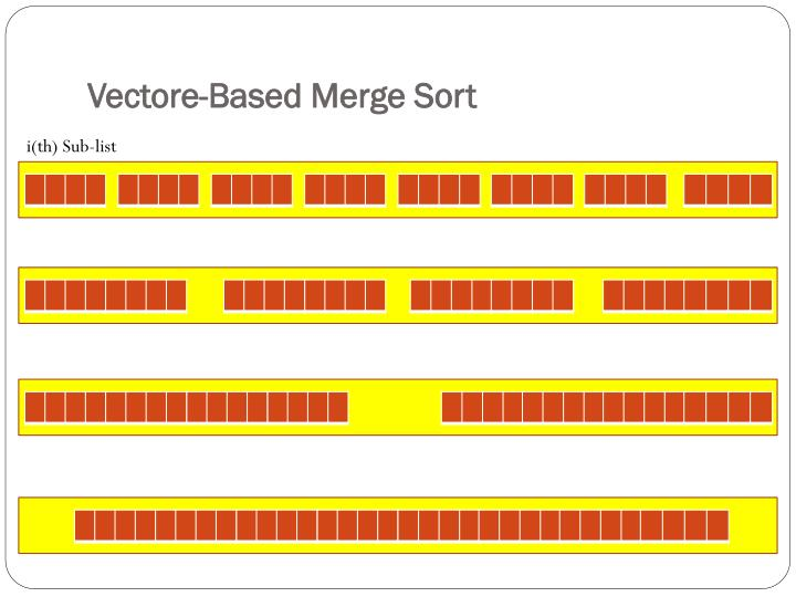 Vectore-Based Merge Sort