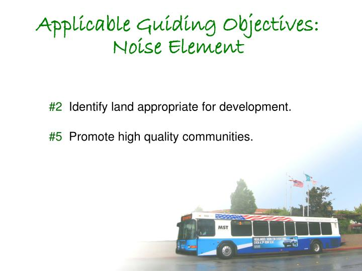 Applicable Guiding Objectives: